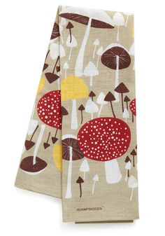 Mushroom for One More Tea Towel, #ModCloth.  Curtain inspiration?