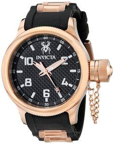 Invicta Men's 17948 Russian Diver Analog Display Swiss Quartz Black Watch