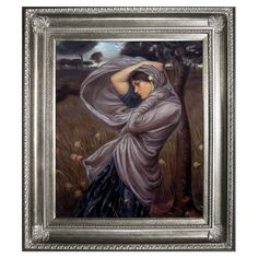 Boreas by Waterhouse Framed Oil on Canvas Reproduction