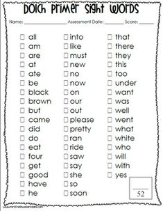 Great Dolch sight word sentence strips and flash cards for free ...