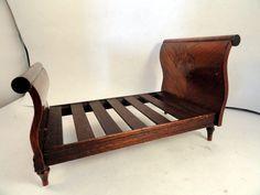 Fabulous Dennis Jenvey Burlwood Marquetry Sliegh Bed | eBay