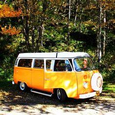 Vw - bus - van - bulli - orange - t2