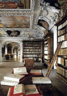 The Library of the Kremsmuenster Abbey (Austria).