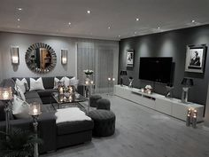 small living room designs are offered on our site. Have a look and you wont be sorry you did. Living Room Ideas Light Grey Sofa, Living Room Decor Cozy, Living Room Grey, Home And Living, Small Living, Living Room Goals, Grey Loving Room Ideas, Diy Interior Design Living Room, Lights For Living Room