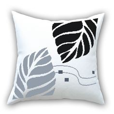 wholesale price 100% white cloth 11 ct HD cross stitch pillow car pillow with leaves 3pcs/ set free shipping-inNeedlework from Home & Garden on Aliexpress.com