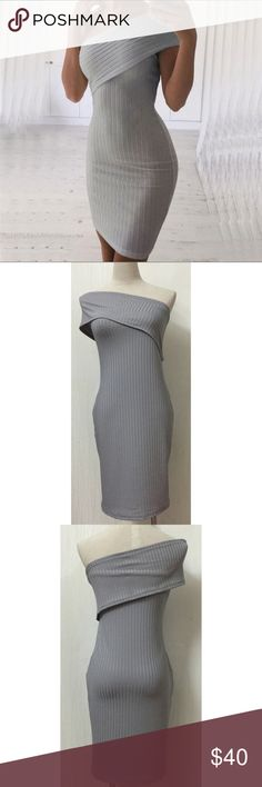 NWT one shoulder bodycon dress NWT. Fit is true to size. Order your normal size. Cotton/spandex blend. vogue vice Dresses One Shoulder