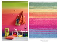 Hinterveld's - All the Earth throw was inspired by a wall painted with Plascon paint for the Spaces magazine Issue