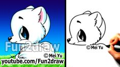 Easy things to draw cute animals – drawing tutorial – arctic fox (easy! Cute Animals With Funny Captions, Cute Animal Memes, Cute Cartoon Animals, Cute Animal Videos, Cute Baby Animals, Farm Animals, Nature Animals, Disney Drawings, Cartoon Drawings