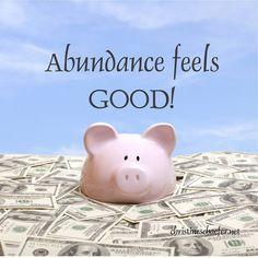Abundance Piggy Bank, Law Of Attraction, Abundance, Feel Good, Feelings, Beautiful, Money Box, Money Bank, Savings Jar