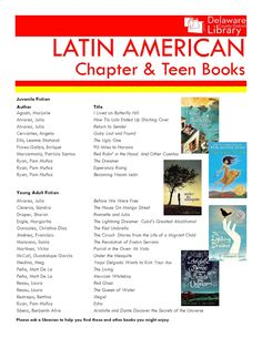 Latin American Chapter & Teen Books | Delaware County District Library