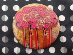 Bouton  de couture original:  la forêt magique 4.8 cm en pâte polymère de la boutique BoutonsdAuj sur Etsy