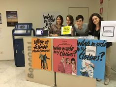 Universita Bocconi, Italy Students created an information desk to educate others about Fashion Revolution and spread the word of the movement. Revolutionaries, Rage, Something To Do, Students, Desk, Italy, Education, Fashion, Moda