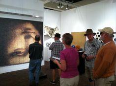 Devorah Sperber's Mona Lisa of spools of thread at Bentley Gallery's booth at Palm Springs Art Fair 2012 Local Art Galleries, Phoenix Art, Spring Art, Local Artists, Art Fair, Artist Art, Palm Springs, Mona Lisa, Contemporary Art