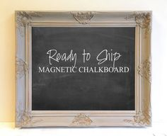 READY to SHIP Gray Magnetic Chalkboard Grey and by ShugabeeLane