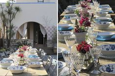 Decoración mesas Modern City, Wedding Flowers, Barcelona, Table Settings, Table Decorations, Beautiful, Home Decor, March 21, Seasons