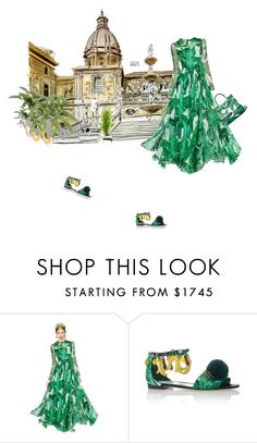 """Back home"" by theitalianglam ❤ liked on Polyvore featuring Dolce&Gabbana, tropicalprints and hottropics"