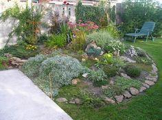 Le jardin de Cetherine - La rocaille premier annee de plantation