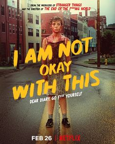 """Described as a supernatural coming-of-age series, Netflix shares this striking piece of art for """"I Am Not Okay With This"""", from the producers of """"Stranger Movies And Series, Best Series, New Movies, Movies And Tv Shows, Tv Series, Poster Series, Cher Journal, Shows On Netflix, Netflix Series"""