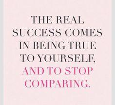 You measure your success