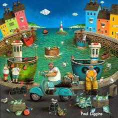 CRUCITA GUTIÉRREZ SEGOVIA: MIS AMIGOS PINTORES - PAUL LIGGINS Building Art, Sea Art, Naive Art, Home Decor Kitchen, Pebble Art, Boho Decor, Paper Art, Decoupage, Projects To Try