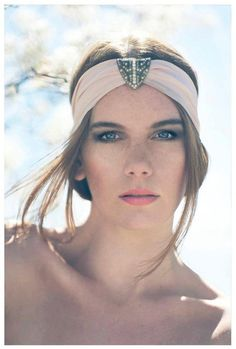 Deco Chiffon Headwraps/Turban-   made with Authentic 1920s embellishments