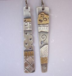 Mix 'n Match Stick Earrings by BJ and Greg Jordan.......  Variation in pattern heightens interest.