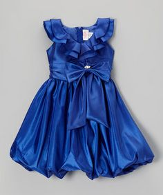 Another great find on #zulily! Party Perfect Royal Blue Bubble Dress & Clip - Toddler & Girls by Party Perfect #zulilyfinds