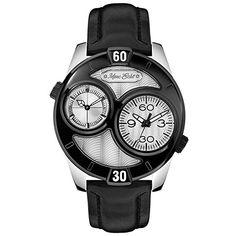 a15c730562b Relógio Marc Ecko Men s The Maestro Black Leather Strap Watch Ecko