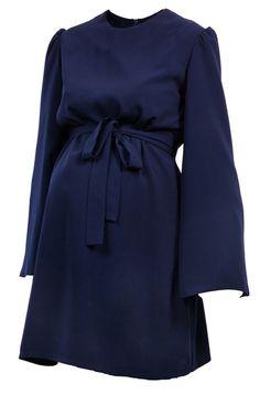 60s style short maternity work dress.