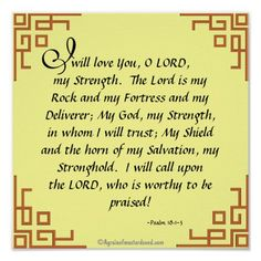 Psalm 8:1-3...The Lord is my strength Agrainofmustardseed.com Bible Scripture Prayers Print