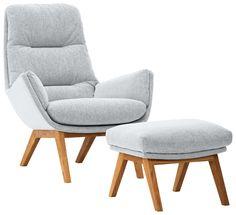 bequemer sessel mit hocker m belideen. Black Bedroom Furniture Sets. Home Design Ideas