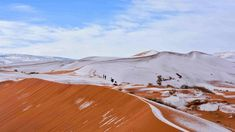 Snowing in the Sahara