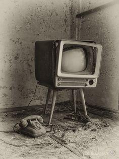 Abandoned TV set from japanese ghost island of Hashima (otherwise known as Gunkanjima / Battleship Island) by Michael Gakuran