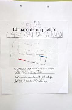 Soñando sonrisas...: El mapa. (Proyecto Mi pueblo)