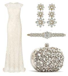 """Stunning simple Sparkle Bride"" by maura-glacken-mathewson on Polyvore featuring Phase Eight, Chloe + Isabel, wedding, jewelry, bridalfashion and candibymaura"