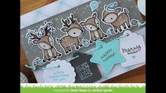 Lawn Fawn | Tiny Tags + Reindeer Holiday Card