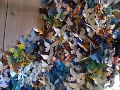 butterfly #Anthropologie, #window_display, #installation, butterfly