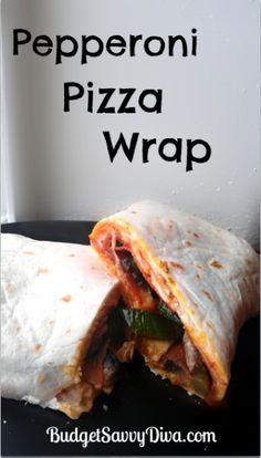 Pepperoni Pizza Wraps