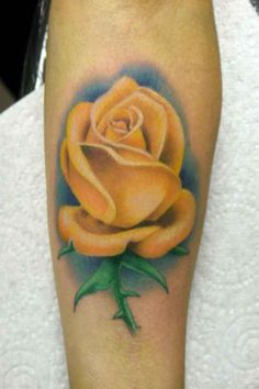 watercolor yellow rose tattoo by coral petrie   Tattoo   Pinterest ...