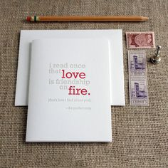 Letterpress 'Love' Card - 4 pack
