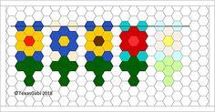 Ravelry: TexasGabi's TURTLE Hexagon Pin Loom: Daffodil Garden Flag