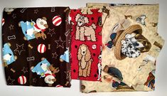 Fabric Bundle / Dog Fabric / Puppy Fabric / Great for crafts and dog lovers