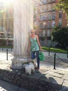 Shades: Chanel, Jeans: Victoria's Secret, Bag: Valentino