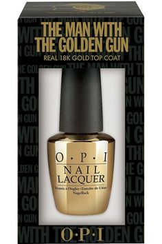 18k Gold nail polish. It's a little pricey but I bet it looks cool.     James Bond Skyfall OPI Nail Polishes And Gold Top Coat (Vogue.com UK)