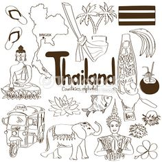 Arte vetorial : Collection of Thailand icons