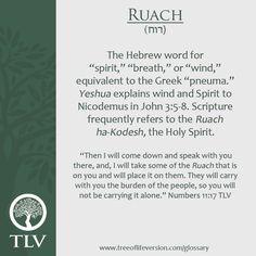 Ruach, breath, prana. Holy Spirit.