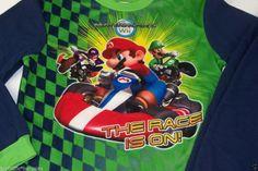 Wii Mario Kart Boys Sleepwear Pajama Set Size 8 Multi-Color #MarioKart #PajamaSets