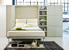 einrichtungsideen für schlafzimmer wohwand idee klappbett weiss modern