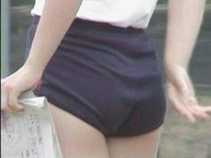 navy blue knickers - mandatory part of the school uniform.   And some of them had pockets in them!