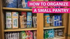 Organize A Small Pantry With The KonMari Method Do you need to organize your pantry? Check out these tips to troubleshoot and organize a small pantry in your kitchen using the KonMari method. You will be organized in no time! Organisation Hacks, Small Pantry Organization, Organizing Hacks, Kitchen Cabinet Organization, Pantry Storage, Diy Hacks, Pantry Ideas, Organize Craft Closet, Organize Small Pantry